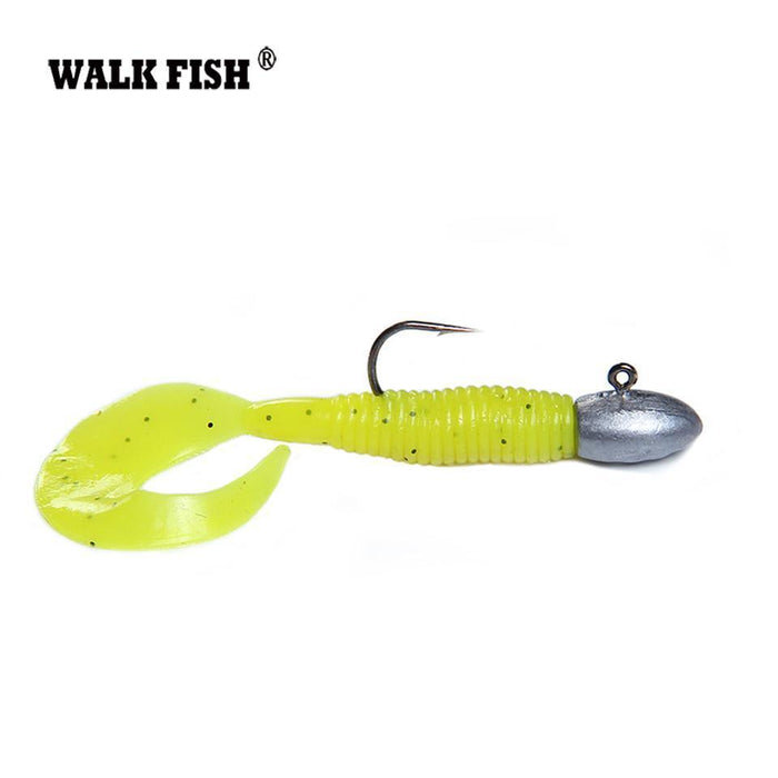Walk Fish 10Pcs/Lot Exposed Lead Jig Head 27Mm 3G Barbed Hook Soft Lure-WALK FISH Official Store-Bargain Bait Box