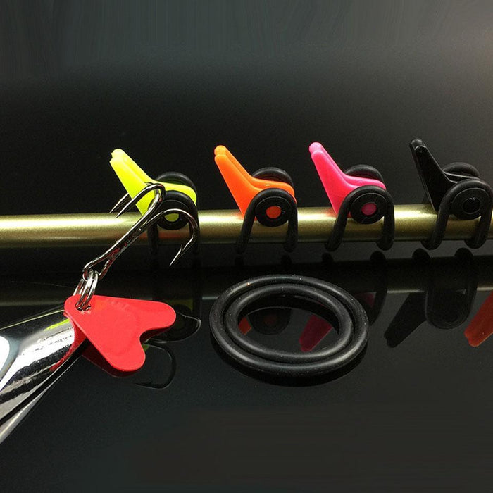 Walk Fish 10Pcs/Lot Multi Color Pescaria Acessorios Plastic Hook Keeper Lure-WALK FISH Store-Orange-Bargain Bait Box