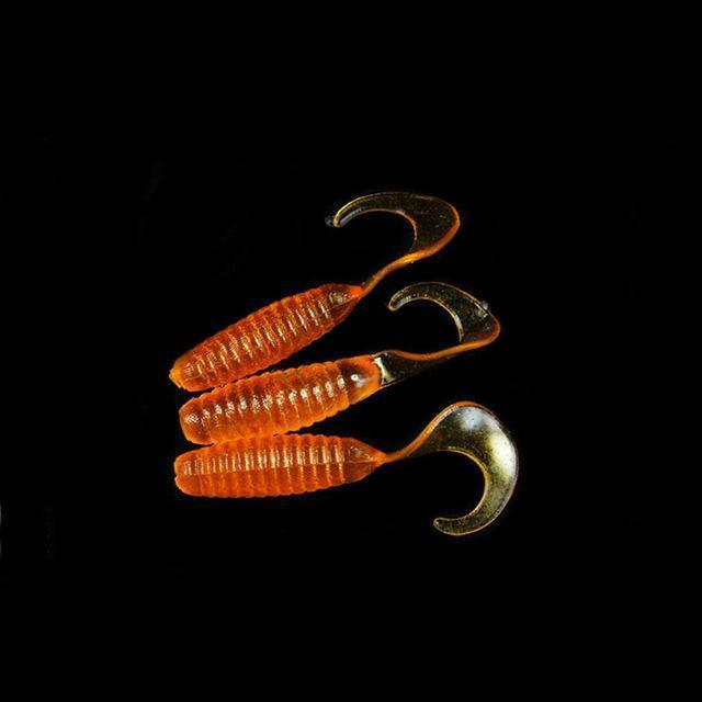 Walk Fish 16Pcs/Lot 30Mm Curly Tail Grub Artificial Panfish Crappie Bream-Capital Fishing Tackle(WeiHai)Co.,Ltd-2-Bargain Bait Box