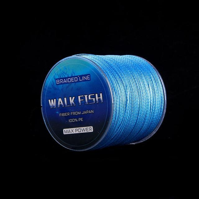 Walk Fish 500M 4 Strands Braided Fishing Line Super Strong Multifilament Fishing-WALK FISH Store-Blue-0.3-Bargain Bait Box