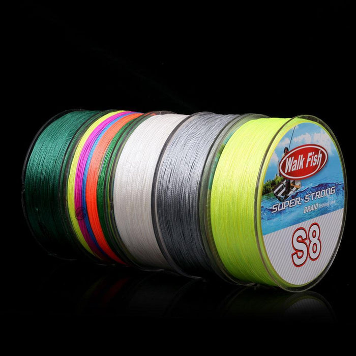 Walk Fish 500M 8 Strand Braid Fishing Line Rope Super Strong Smoother 100% Pe-WALK FISH Store-Green-1.0-Bargain Bait Box
