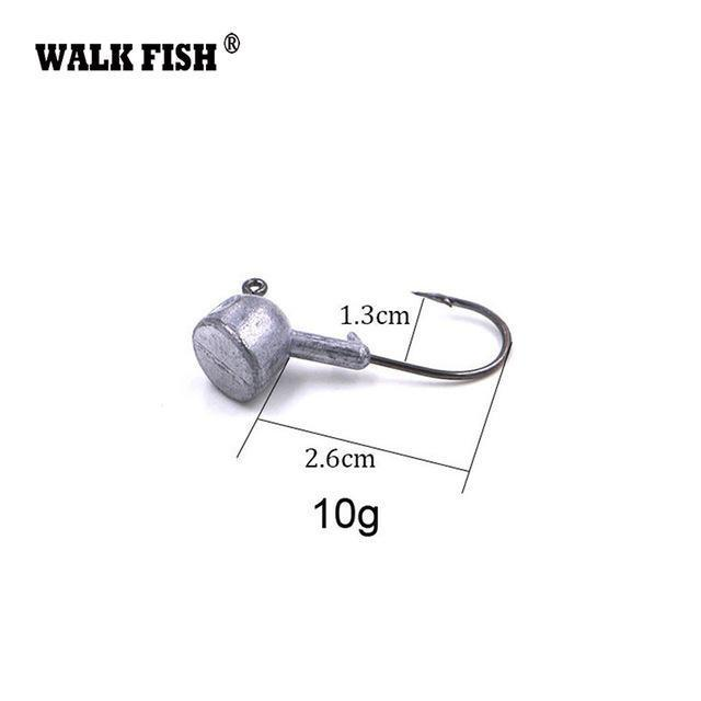 Walk Fish 5Pcs/Lot High Quality 3.5G/7G/10G/14G/18G Lead Head Hook Jigs Bait-WALK FISH Official Store-5Pcs 10g-Bargain Bait Box