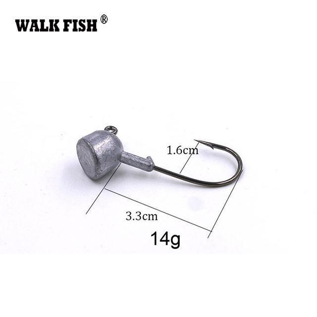 Walk Fish 5Pcs/Lot High Quality 3.5G/7G/10G/14G/18G Lead Head Hook Jigs Bait-WALK FISH Official Store-5Pcs 14g-Bargain Bait Box