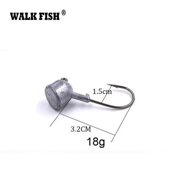 Walk Fish 5Pcs/Lot High Quality 3.5G/7G/10G/14G/18G Lead Head Hook Jigs Bait-WALK FISH Official Store-5Pcs 18g-Bargain Bait Box