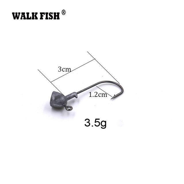 Walk Fish 5Pcs/Lot High Quality 3.5G/7G/10G/14G/18G Lead Head Hook Jigs Bait-WALK FISH Official Store-5Pcs 3g-Bargain Bait Box