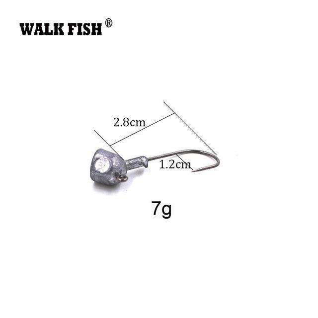Walk Fish 5Pcs/Lot High Quality 3.5G/7G/10G/14G/18G Lead Head Hook Jigs Bait-WALK FISH Official Store-5Pcs 7g-Bargain Bait Box