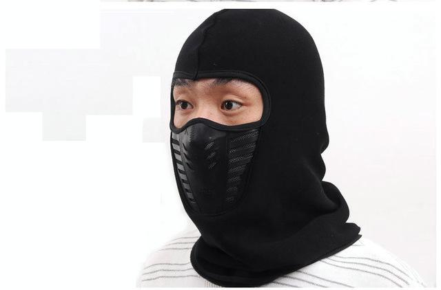 Warmer Face Mask Windproof Dust-Proof Fleece Bike Full Face Scarf Mask Neck-Masks-Bargain Bait Box-Black-Bargain Bait Box