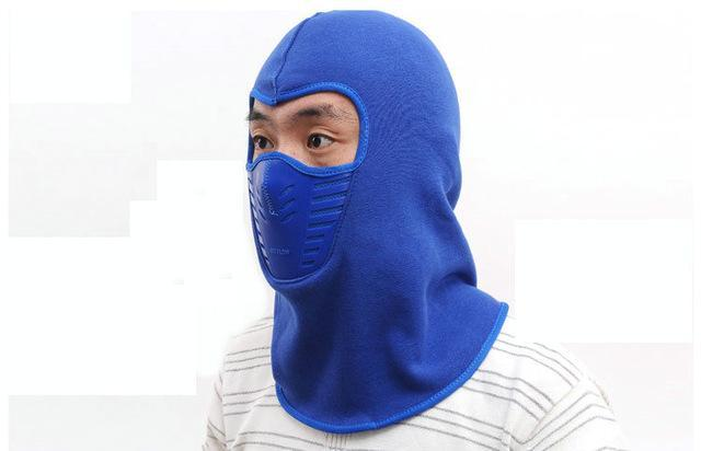 Warmer Face Mask Windproof Dust-Proof Fleece Bike Full Face Scarf Mask Neck-Masks-Bargain Bait Box-Blue-Bargain Bait Box