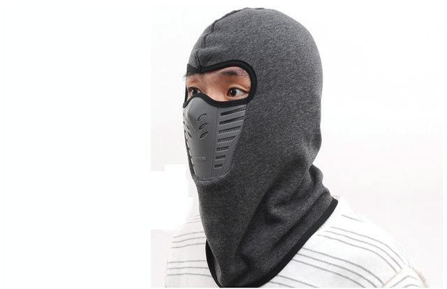 Warmer Face Mask Windproof Dust-Proof Fleece Bike Full Face Scarf Mask Neck-Masks-Bargain Bait Box-Gray-Bargain Bait Box