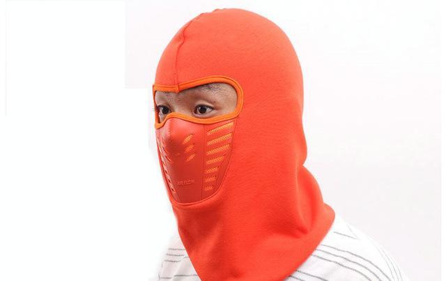 Warmer Face Mask Windproof Dust-Proof Fleece Bike Full Face Scarf Mask Neck-Masks-Bargain Bait Box-Orange-Bargain Bait Box