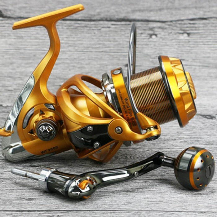 Water Resistant Carbon Baitcasting Reel 22Kg Max Drag Longshot Casting For-Spinning Reels-ArrowShark fishing gear shop Store-4000 Series-Bargain Bait Box