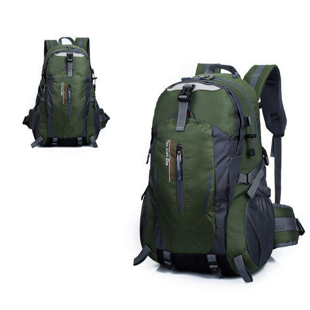 Waterproof Outdoor Climbing Backpack Men Women Camping Hiking Athletic Travel-Outdoor Travel Shop Store-Army Green-Bargain Bait Box