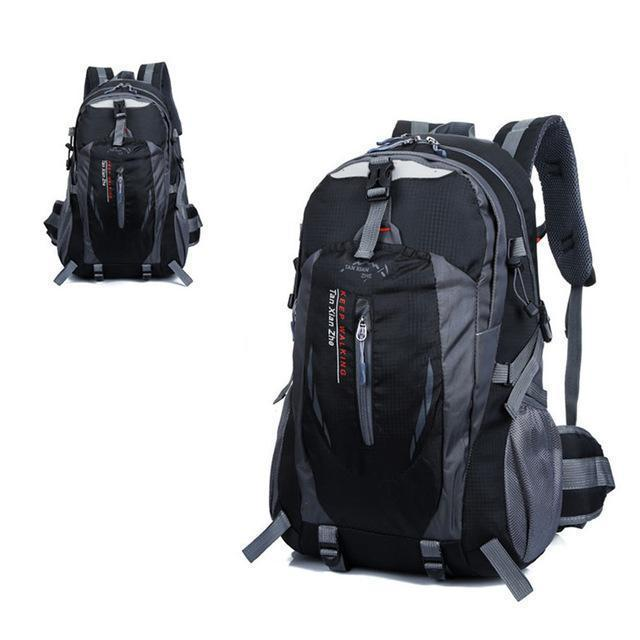 Waterproof Outdoor Climbing Backpack Men Women Camping Hiking Athletic Travel-Outdoor Travel Shop Store-Black Color-Bargain Bait Box