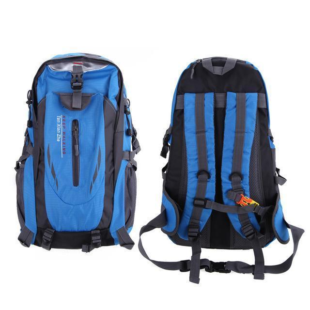 Waterproof Outdoor Climbing Backpack Men Women Camping Hiking Athletic Travel-Outdoor Travel Shop Store-Blue Color-Bargain Bait Box
