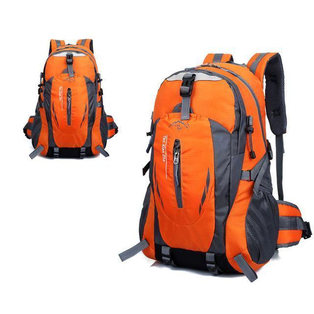 Waterproof Outdoor Climbing Backpack Men Women Camping Hiking Athletic Travel-Outdoor Travel Shop Store-Orange-Bargain Bait Box