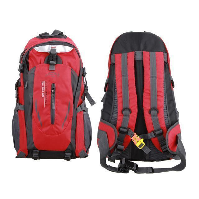 Waterproof Outdoor Climbing Backpack Men Women Camping Hiking Athletic Travel-Outdoor Travel Shop Store-Red Color-Bargain Bait Box