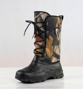 Waterproof Snow Boots Men Non-Slip Fishing/Skiing Boots High Top Men Warm Snow-Boots-Bargain Bait Box-Leaves-8-Bargain Bait Box