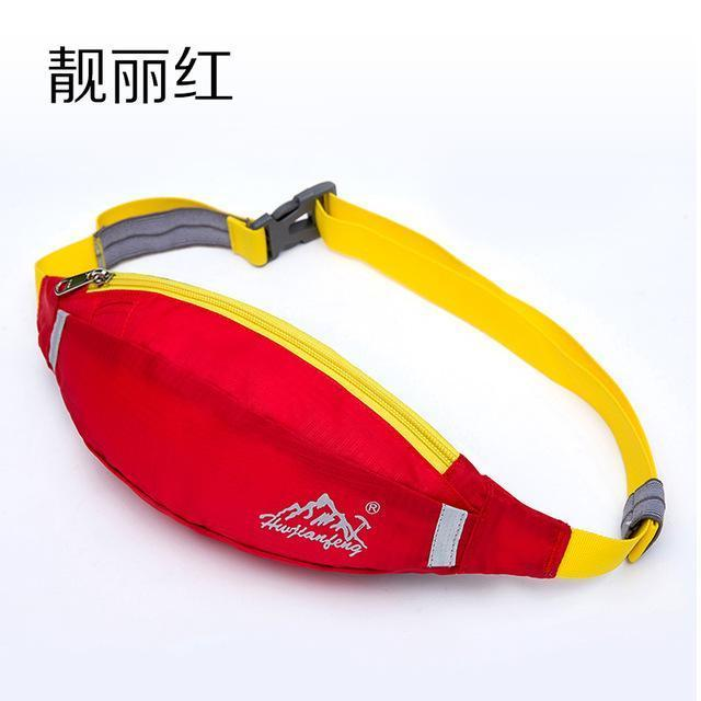 Waterproof Waist Pack For Men Women Fanny Pack Bum Bag Hip Money Belt Mobile-Bags-Happiness bag Store-Beautiful red-Bargain Bait Box
