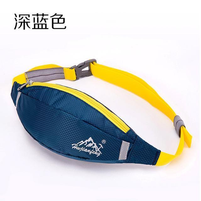 Waterproof Waist Pack For Men Women Fanny Pack Bum Bag Hip Money Belt Mobile-Bags-Happiness bag Store-dark blue-Bargain Bait Box