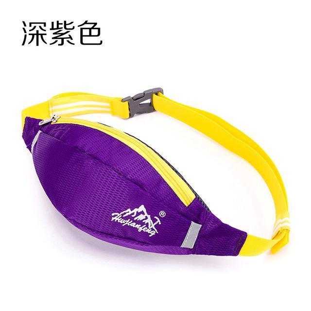 Waterproof Waist Pack For Men Women Fanny Pack Bum Bag Hip Money Belt Mobile-Bags-Happiness bag Store-dark purple-Bargain Bait Box