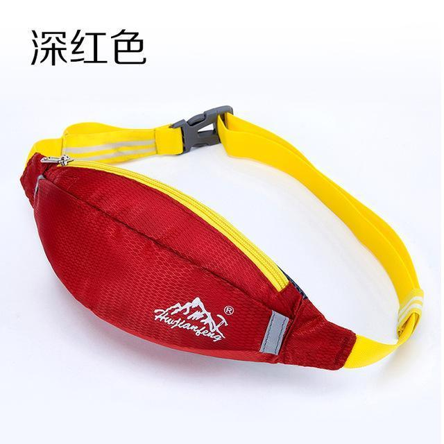 Waterproof Waist Pack For Men Women Fanny Pack Bum Bag Hip Money Belt Mobile-Bags-Happiness bag Store-dark red-Bargain Bait Box