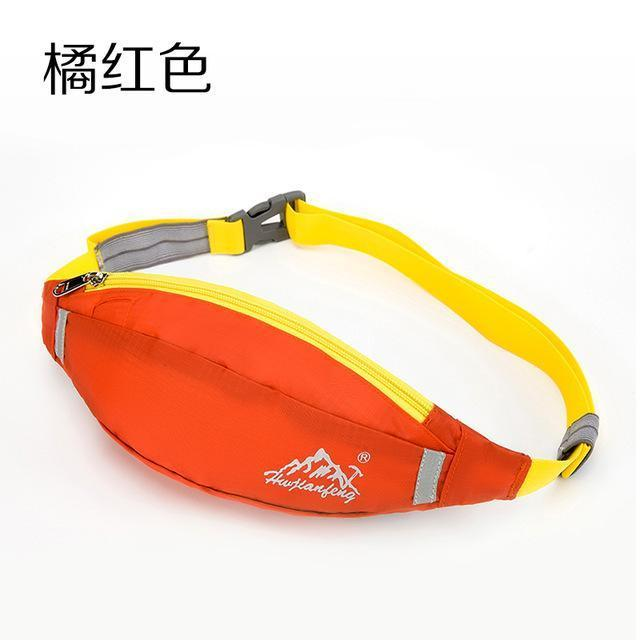 Waterproof Waist Pack For Men Women Fanny Pack Bum Bag Hip Money Belt Mobile-Bags-Happiness bag Store-orange-Bargain Bait Box