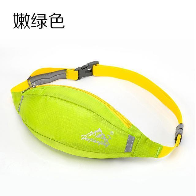 Waterproof Waist Pack For Men Women Fanny Pack Bum Bag Hip Money Belt Mobile-Bags-Happiness bag Store-peak green-Bargain Bait Box