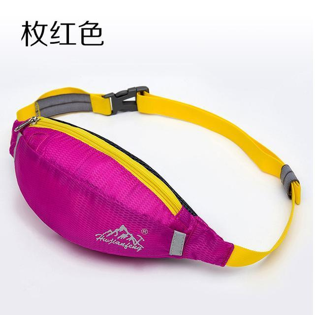 Waterproof Waist Pack For Men Women Fanny Pack Bum Bag Hip Money Belt Mobile-Bags-Happiness bag Store-rose red-Bargain Bait Box