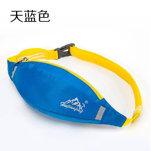 Waterproof Waist Pack For Men Women Fanny Pack Bum Bag Hip Money Belt Mobile-Bags-Happiness bag Store-sky blue-Bargain Bait Box