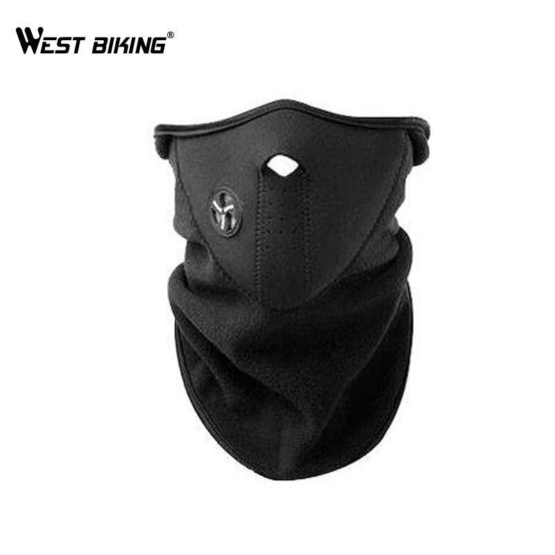 West Biking Neck Warm Half Face Mask Sport Mask Windproof Bike Bicycle Mask-Masks-Bargain Bait Box-Black-Bargain Bait Box