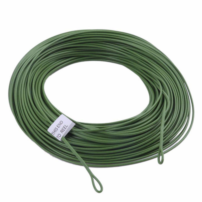 Wf 10/12F Fly Line & Welded Loop Grass Green Weight Forward Floating Fly Fishing-MAXIMUMCATCH Fishing Solution Store-10WT-Bargain Bait Box