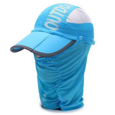 Whichinshower Wide Large Brim Sun Block Fishing Hat Face Neck Protection Sun Cap-Hats-Ymsaid Official Store-2-Bargain Bait Box