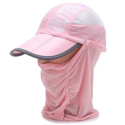 Whichinshower Wide Large Brim Sun Block Fishing Hat Face Neck Protection Sun Cap-Hats-Ymsaid Official Store-4-Bargain Bait Box
