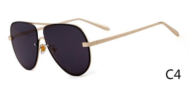 Who Cutie Rimless Aviator Sunglasses Men Women Fashion Colotful Lens-Sunglasses-WHO CUTIE Official Store-C4-Bargain Bait Box
