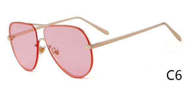 Who Cutie Rimless Aviator Sunglasses Men Women Fashion Colotful Lens-Sunglasses-WHO CUTIE Official Store-C6-Bargain Bait Box