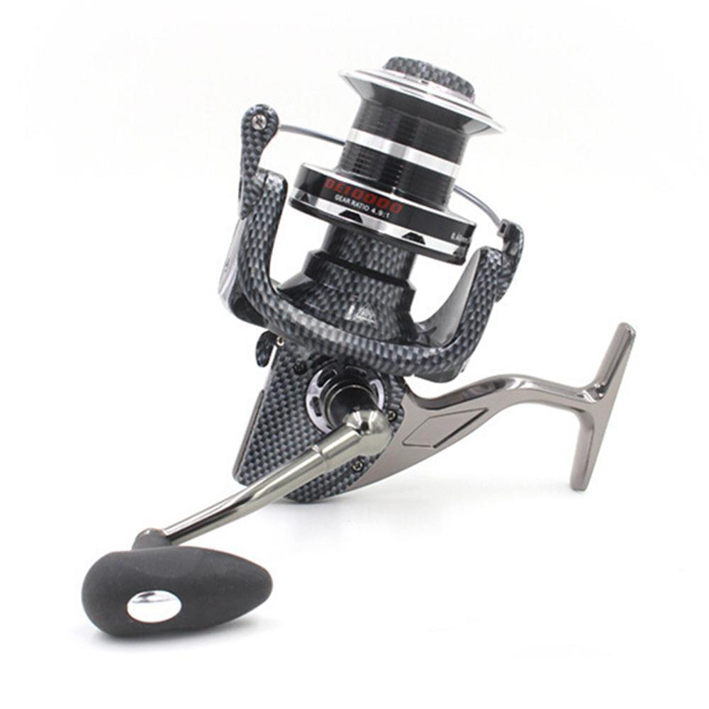 Wholesale 10000 Series 12+1Bb All-Metal Line Cup Spinning Reel Large Long Shot-Spinning Reels-AgileDragon Outdoor Equipment Store-Bargain Bait Box
