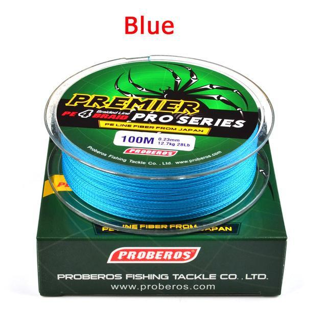 Wholesale 100M 4X Braided Fishing Line 5 Colorssuper Strong Japanese-Sports fishing products-Blue-0.4-Bargain Bait Box