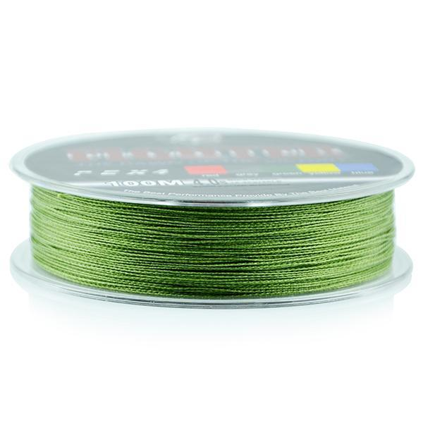 Wholesale Monofilament Braided Fishing Line 100M Floating Multicolor 8-60Lb High-Sequoia Outdoor (China) Co., Ltd-Green-0.4-Bargain Bait Box