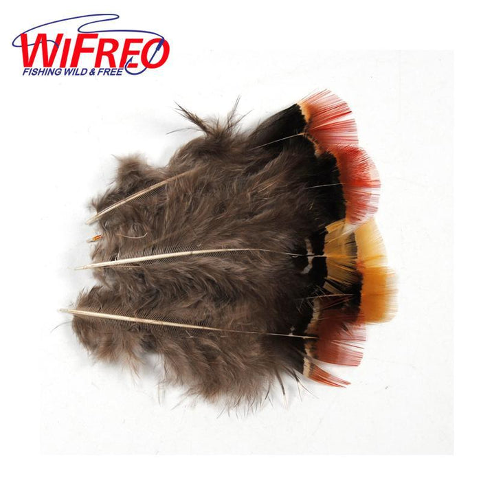 Wifreo 20Pcs Picked Red Yellow Tip Mix Feather For Fly Tying Throax Tail Wing-Fly Tying Materials-Bargain Bait Box-Bargain Bait Box