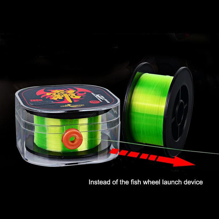 Wire Hole 200M Extreme Super Strong Nylon Fishing Line Japan Durable-FJORD Fishing Tackle Store-White-1.0-Bargain Bait Box