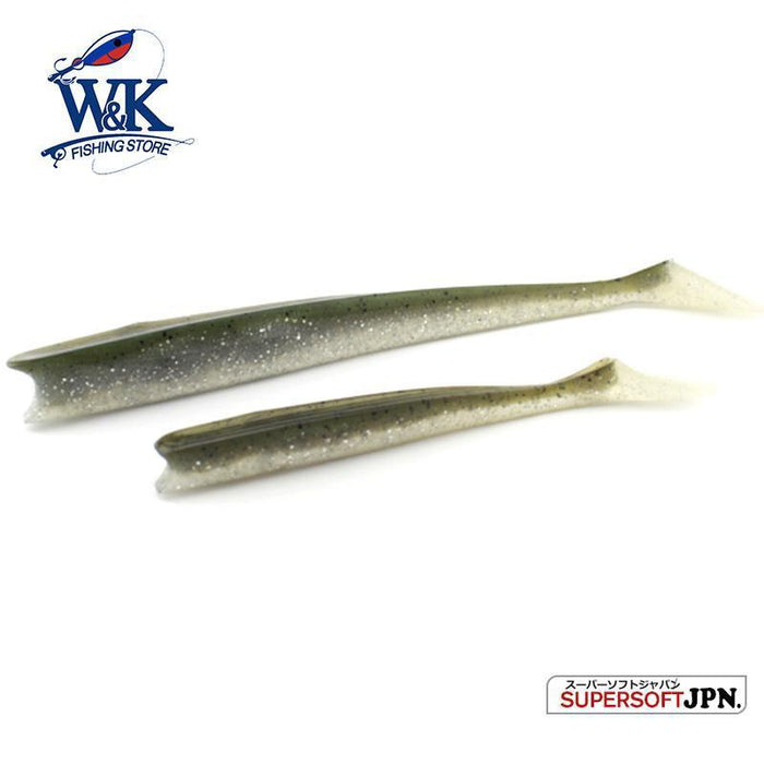 W&K Brand 14Cm 13G Soft Lure 12Colors Big Paddle Tail Fishing Bait Handmade-W&K Official Store-Pearl White-Bargain Bait Box
