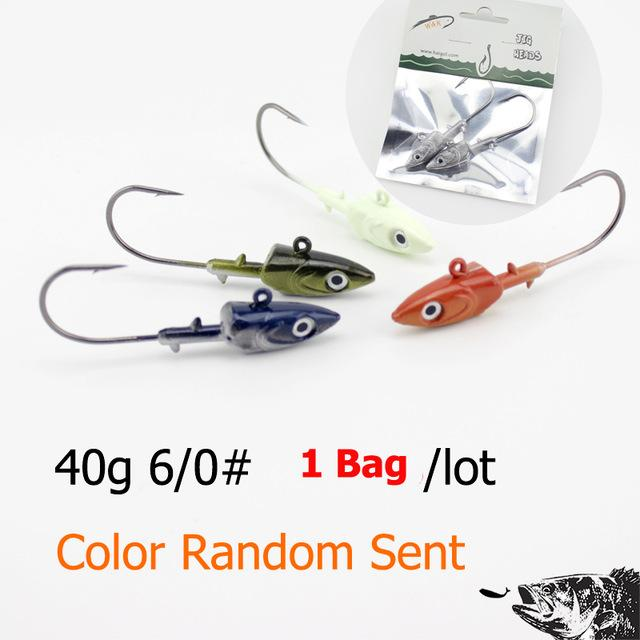 Wk Fishing Hook 20G 30G 40G Jig Head Hook For Soft Shad Lure 2Pcs/Lot Strong Jig-Jig Heads for Swimbaits-W&K Official Store-40g SY JIG Head-Bargain Bait Box