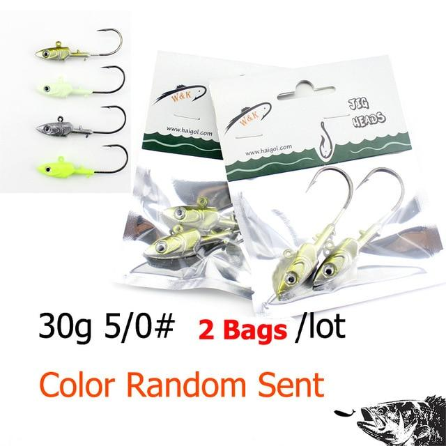 Wk Inshore Fishing Jig Head 20G 30G 40G With 3D Eyes For Soft Lure Jiggs 4-Jig Heads for Swimbaits-W&K Official Store-30g SY JIG-Bargain Bait Box