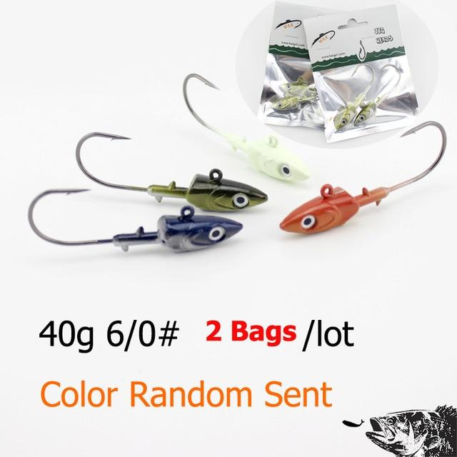 Wk Inshore Fishing Jig Head 20G 30G 40G With 3D Eyes For Soft Lure Jiggs 4-Jig Heads for Swimbaits-W&K Official Store-40 g SY JIG-Bargain Bait Box