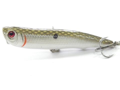Wlure 10Cm 17G Long Casting Topwater Popper Walking Lure 2 #4 Treble Hooks-wLure Official Store-W622X10-Bargain Bait Box