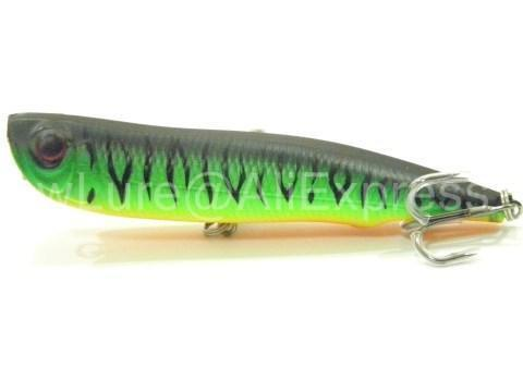 Wlure 10Cm 17G Long Casting Topwater Popper Walking Lure 2 #4 Treble Hooks-wLure Official Store-W622X39-Bargain Bait Box