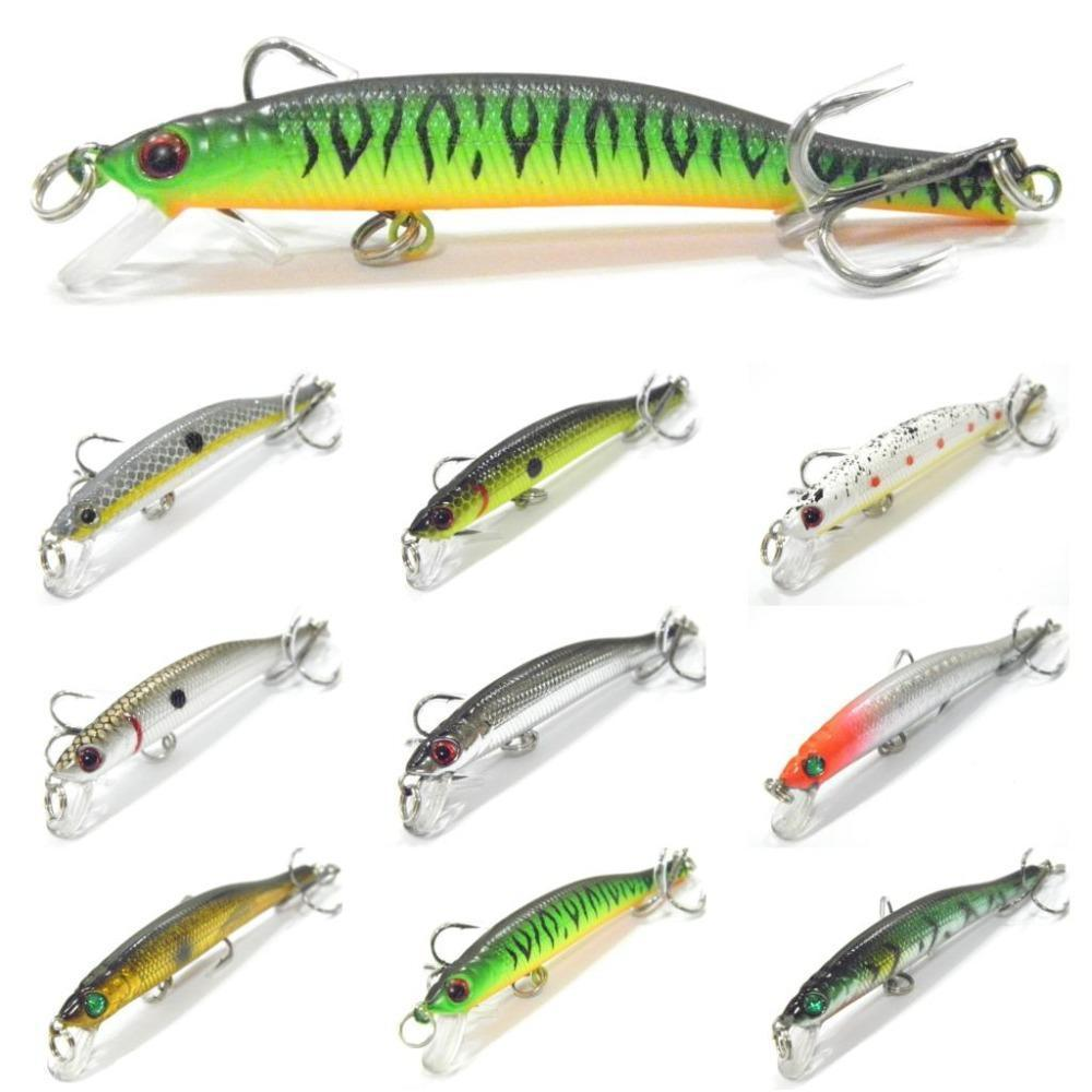 Wlure 5.3G 8.3Cm Slim Minnow Lure Very Tight Wobble Slow Sinking 2 #6 Treble-wLure Official Store-M662X26-Bargain Bait Box