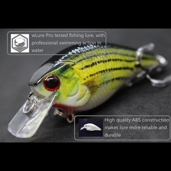 Wlure 7Cm 10G Small Square Bill 1.5 Model Wide Wobble Slow Floating Reallife-wLure Official Store-HC15X401-Bargain Bait Box