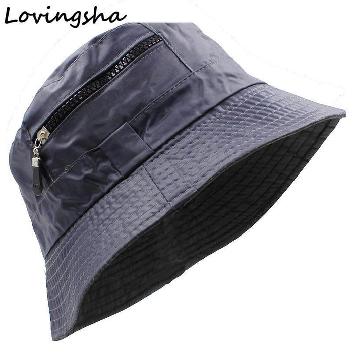 Women Hat Unisex Flat Polyester Bucket Hat For Men Women Sun Hat Female Male Cap-Hats-Bargain Bait Box-Black-China-Bargain Bait Box