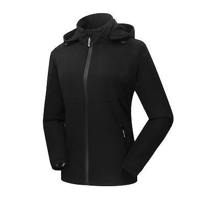 Women'S Qucik Dry Breathable Thin Jackets Sport Waterproof Female Trekking-Jackets-Bargain Bait Box-Black-M-Bargain Bait Box
